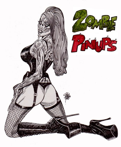 Zombie Art Zombie Pinup Diva #214 Zombie Art by Rob Sacchetto