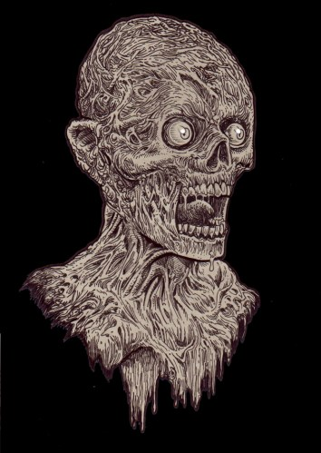 Zombie Art Gore Shriek! Zombie Art by Rob Sacchetto