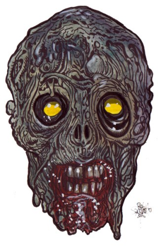 Zombie Art : Ghoul Zone Zombie Art by Rob Sacchetto