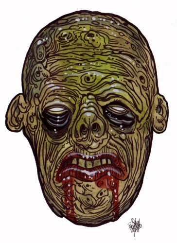 Zombie Art : Radiation Zombie Zombie Art by Rob Sacchetto