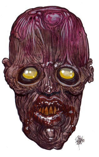 Zombie Art : Saw Tooth Zombie Art by Rob Sacchetto