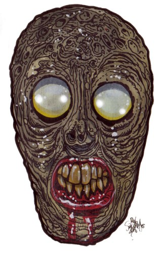 Zombie Art Electric Chair Head Zombie Art by Rob Sacchetto