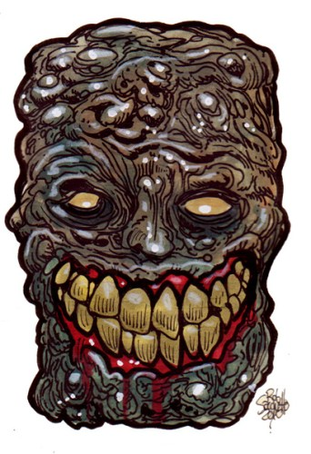 Zombie Art : Great Grinner Zombie Art by Rob Sacchetto