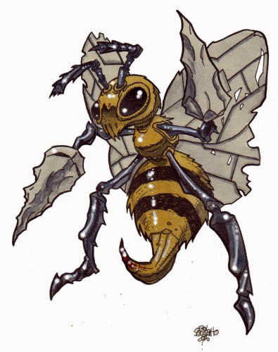Zombie Art : Beedrill Pokemon Zombie Art by Rob Sacchetto