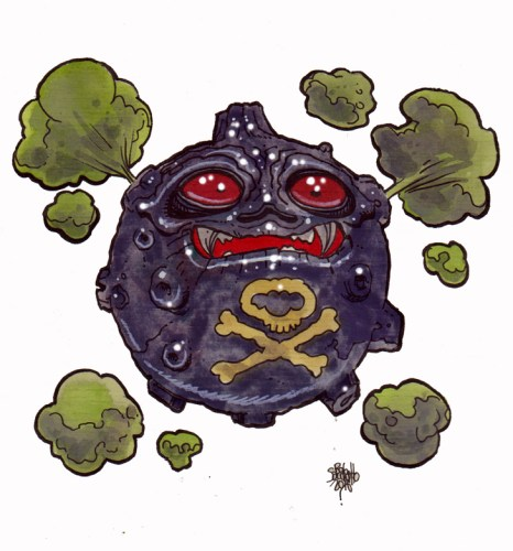 Zombie Art : Koffing Pokemon Zombie Art by Rob Sacchetto