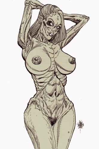 Zombie Art : Nude Pinup #248 Zombie Art by Rob Sacchetto