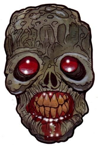 Zombie Art : Red Eye Blind Zombie Art by Rob Sacchetto