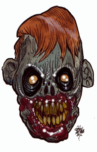 Zombie Art Cackle Bag Zombie Art by Rob Sacchetto
