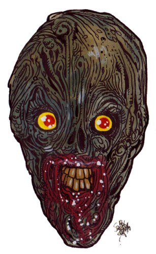 Zombie Art : Tiny Mouth Hole Zombie Art by Rob Sacchetto