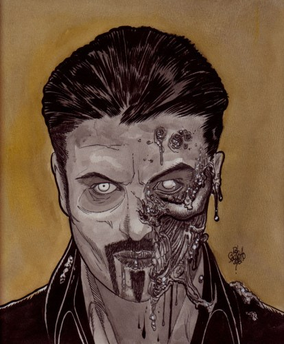 Zombie Art : George Micheal R.I.P. Zombie Art by Rob Sacchetto
