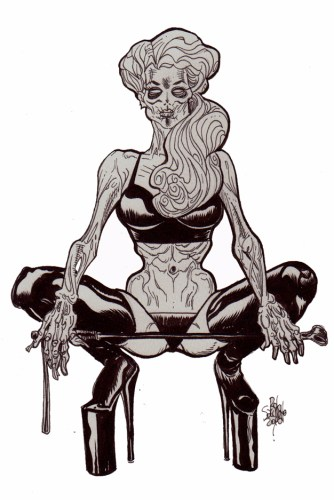 Zombie Art : Pinup #258 Zombie Art by Rob Sacchetto