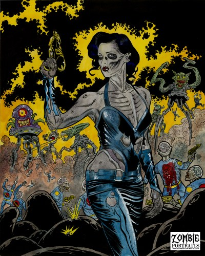 Zombie Art : Space Queen Zombie Art by Rob Sacchetto