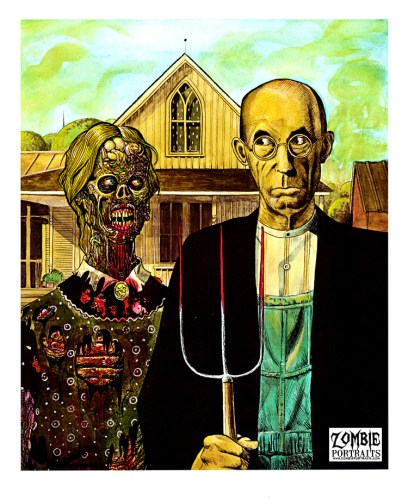 Zombie Art : American Gothic Zombie Art by Rob Sacchetto