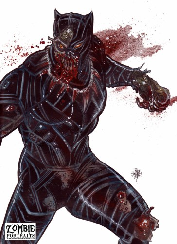 Zombie Art : Black Panther Patreon Exclusive! Zombie Art by Rob Sacchetto