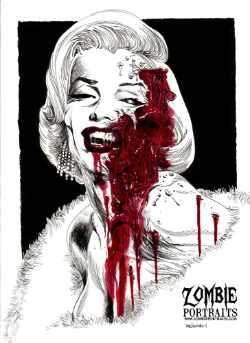 Zombie Art : Marilyn Monroe Zombie Art by Rob Sacchetto