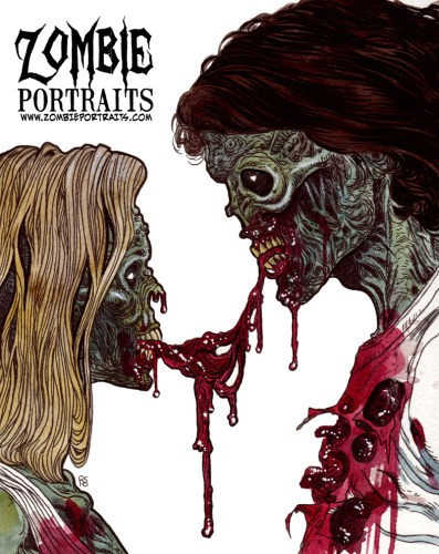 Zombie Art : Happy Valentines Day! Zombie Art by Rob Sacchetto