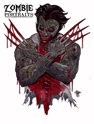 Zombie Art : Logan the Wolverine Zombie Art by Rob Sacchetto