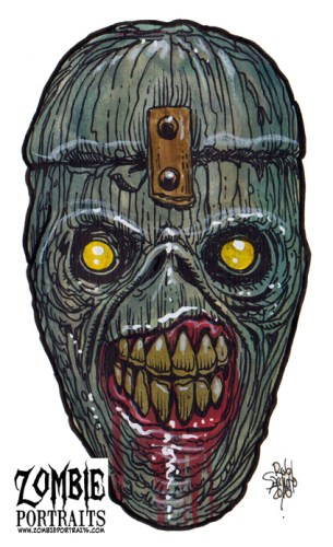 Zombie Art : Eddie Iron Maiden Zombie Art by Rob Sacchetto