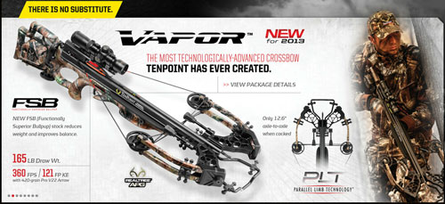 Ten Point Crossbows Vapor, Stealth, & Tactical 2013
