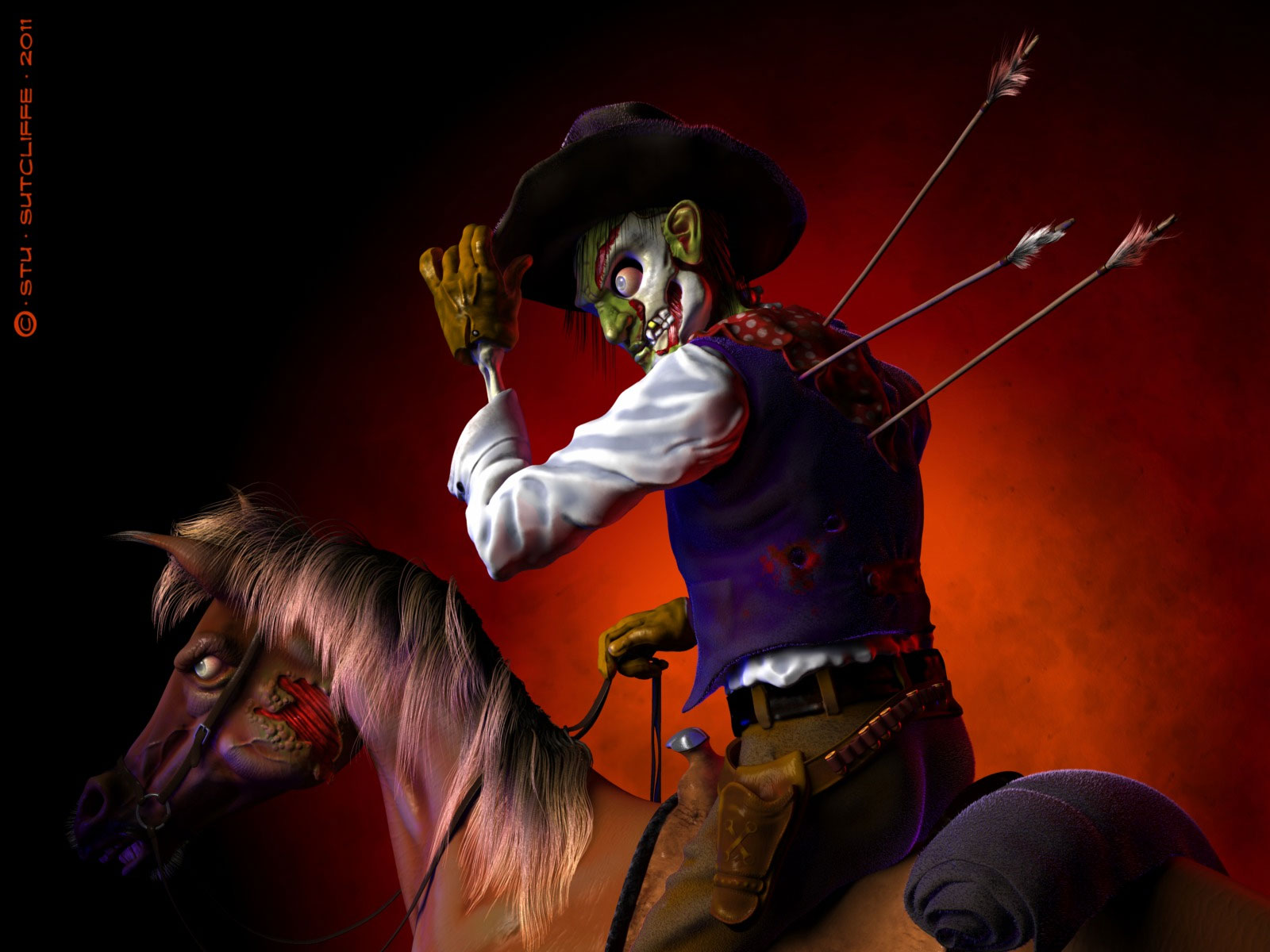Image result for zombie western cartoon