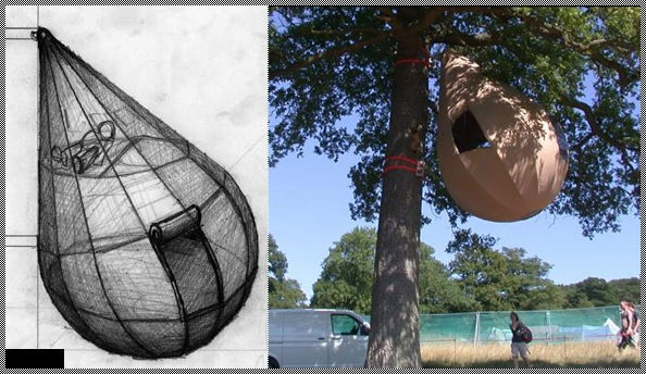 Tent With Shelter Trees : Raindrop shaped tree tents zombie research society