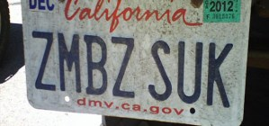 FUNNY ZOMBIE LICENSE PLATES