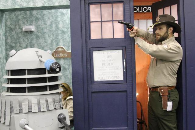 Matt's Rick Grimes Takes Aim at Dr. Who