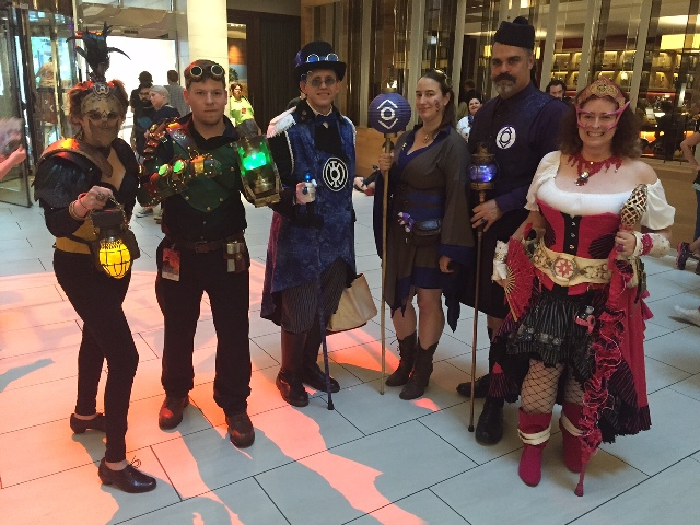 Dragon Con Steampunk Indigo Lanterns
