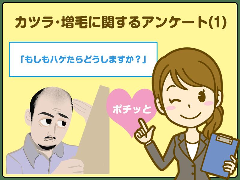 「もしもハゲたらどうしますか?」カツラ・増毛に関するアンケート(1)