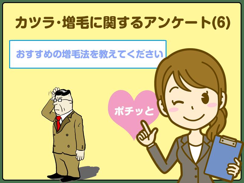 「おすすめの増毛法を教えてください」カツラ・増毛に関するアンケート(6)