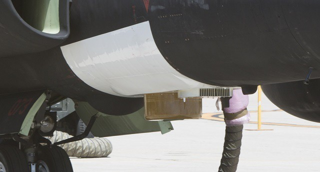 Detalle del equipo de Enterprise OMS montado en el U-2 Dragon Lady. Imagen: Lockheed Martin.