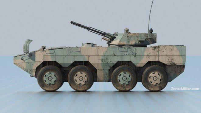 Interpretación digital del VCBR VN-1 del Ejército Argentino. Imagen - Alejandro Klichowski .