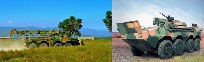 Versiones del ZBL-09 para Ingenieros y Recuperador de Tanques.