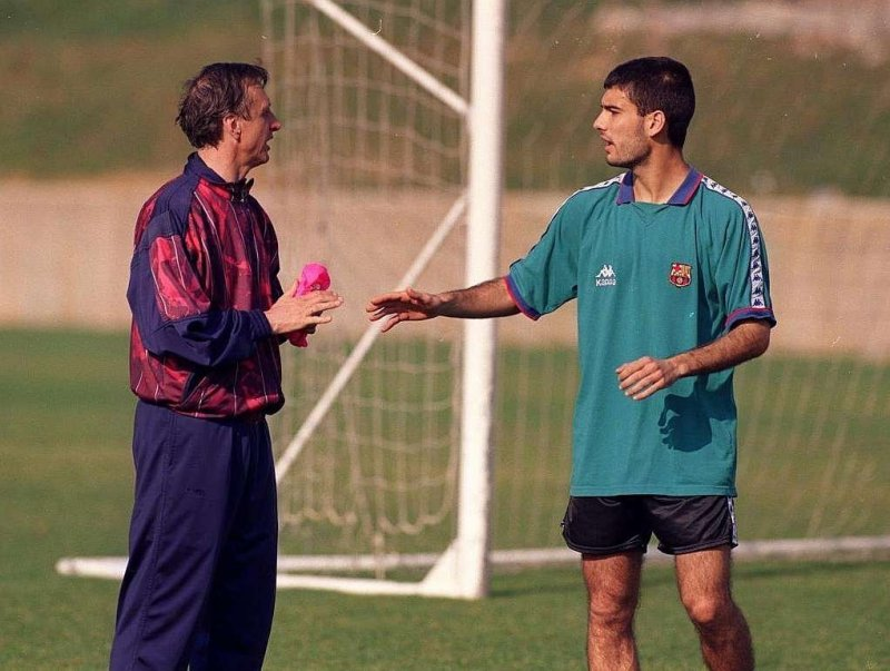 Johan Cruijff e Pep Guardiola