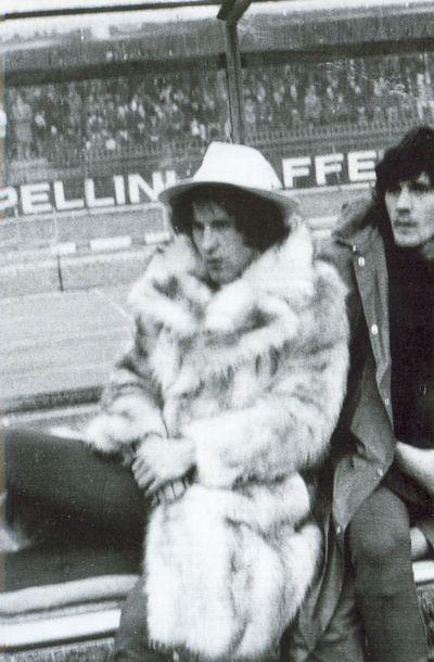 Gianfranco Zigoni con la pelliccia