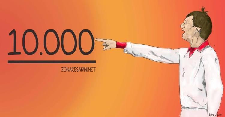 10.000 fan per Zona Cesarini