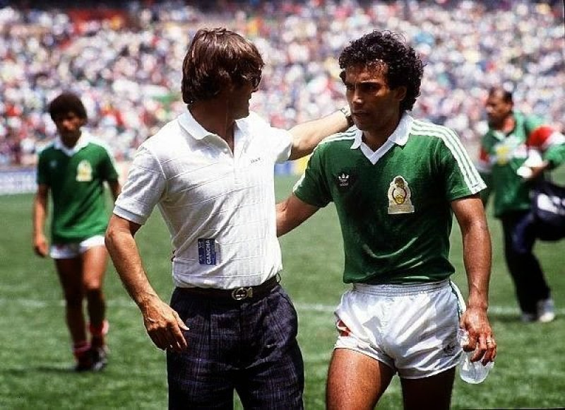 Milutinovic e Hugo Sanchez all'Azteca
