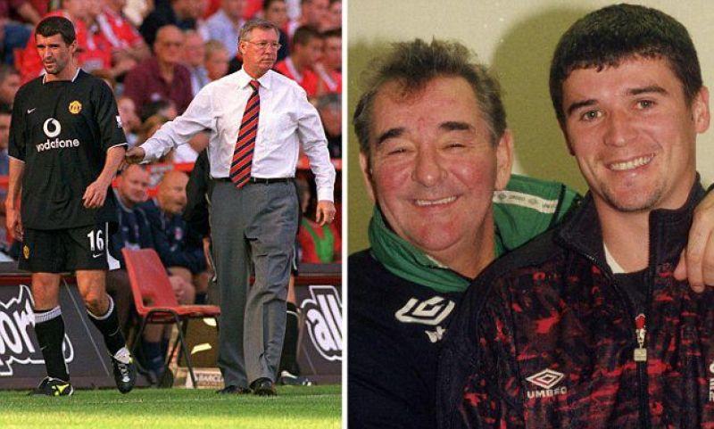Keane e i suoi mentori: Ferguson e Clough