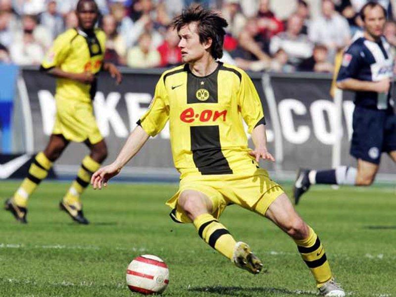 Rosický in maglia Dortmund.