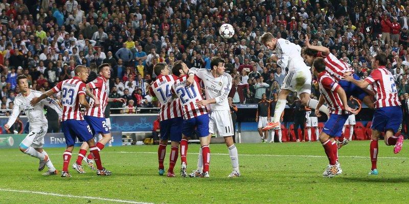 LISBON, PORTUGAL - MAIl gol di Sergio Ramos che allo scadere spezza i sogni dell'Atletico Madrid