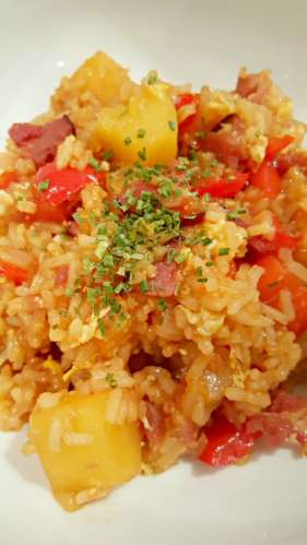 Hawaiian Fried Rice for Two delicious and sweet