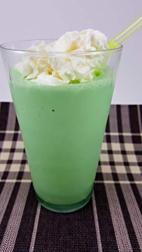 Shamrock Shake Copycat for two - minty and delicious!