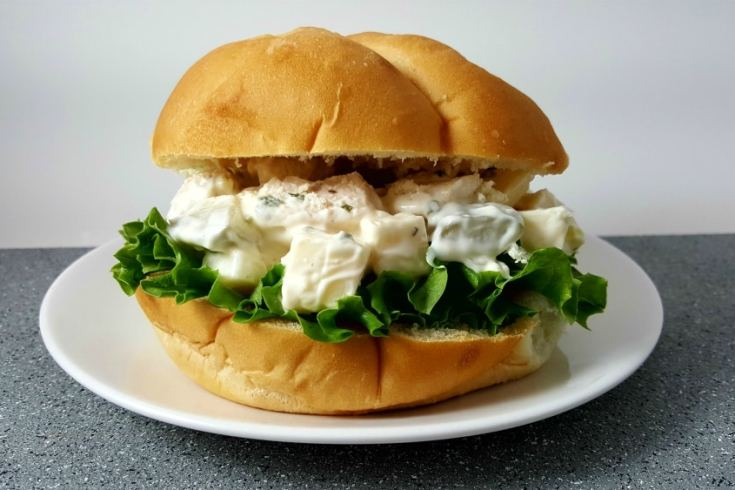 Swiss Cheese Chicken Salad Sandwiches - favorite way to make chicken salad!