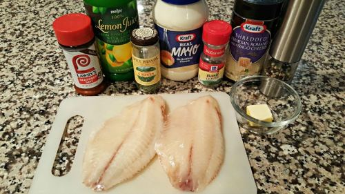 Broiled Tilapia Parmesan for Two ingredients