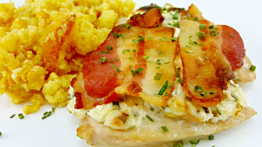 Bacon Cream Cheese Chicken - easy dinner for two
