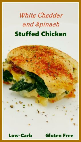 Cheesy Spinach Stuffed Chicken for Two - low carb and gluten free