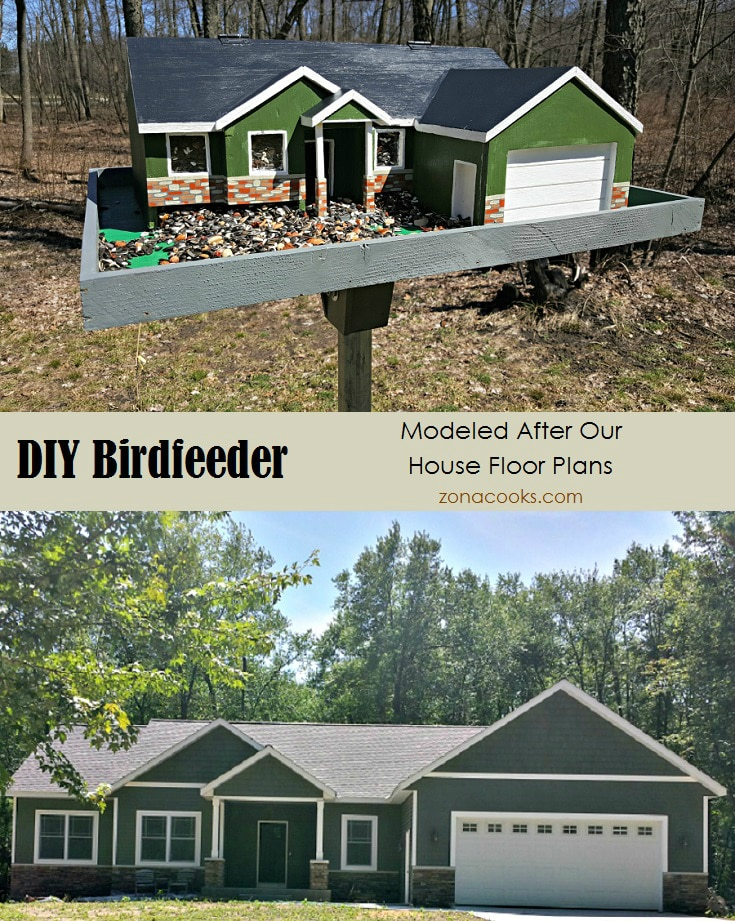 DIY Bird feeder Modeled After Our House Floorplans - zonacooks