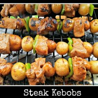 Steak Kebobs for Two - grill tonight!