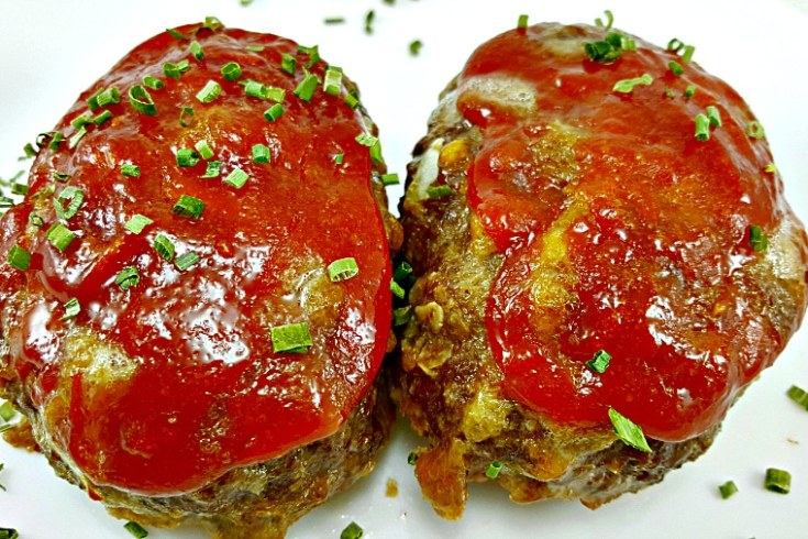Individual Cheddar Meatloaves - perfect size and delicious taste!