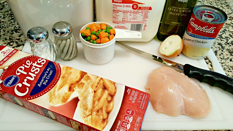 Individual Chicken Pot Pies ingredients